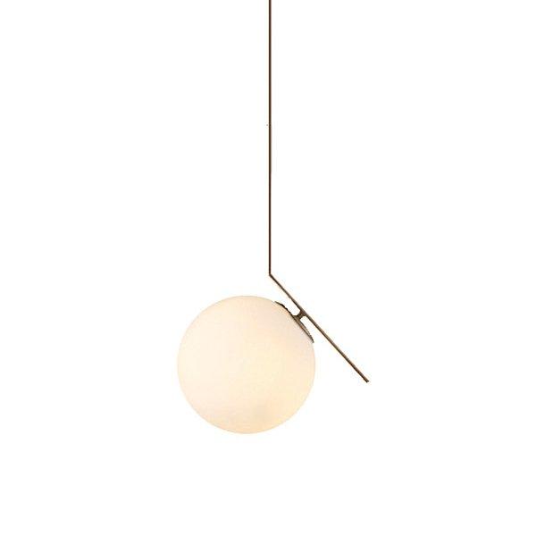 Подвесной светильник с плафоном из матового стекла