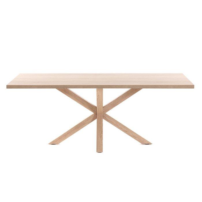 Обеденный стол Arya с основанием из металла c отделкой под дерево