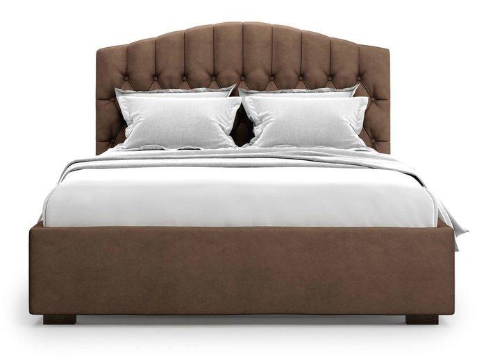 Кровать с подъемным механизмом Lugano 160х200 коричневого цвета