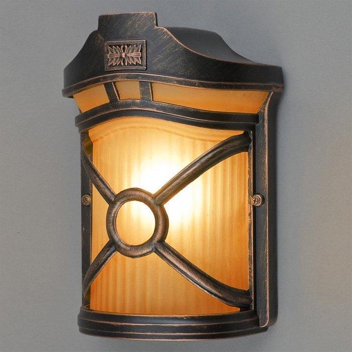 Уличный настенный светильник Don бронзового цвета