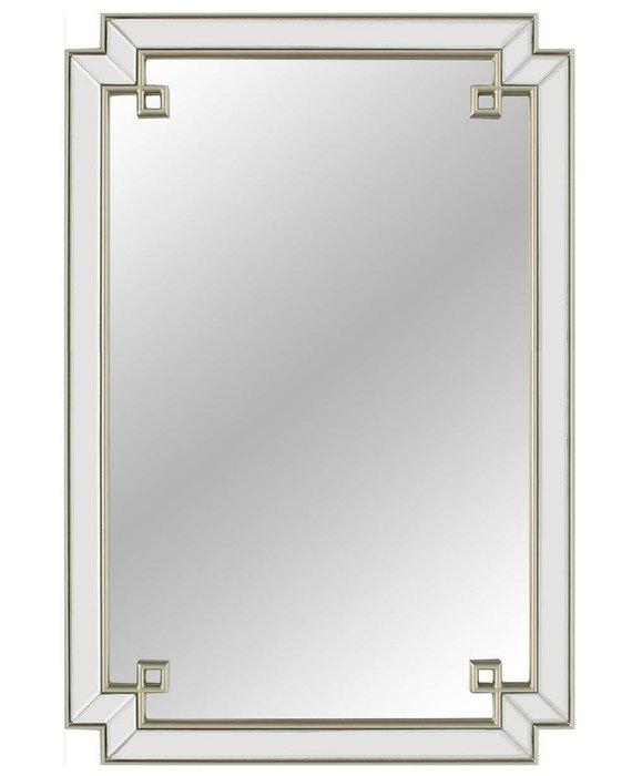 Настенное зеркало в раме York Silver
