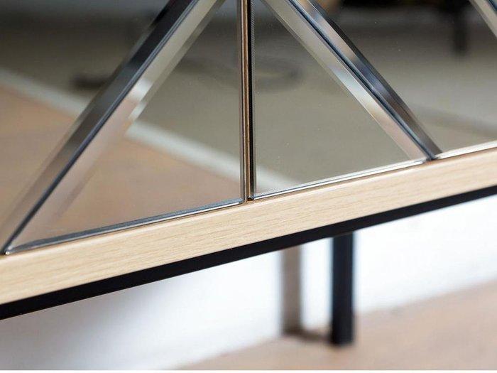 Тумба под ТВ Boho с зеркальным фасадом медного цвета