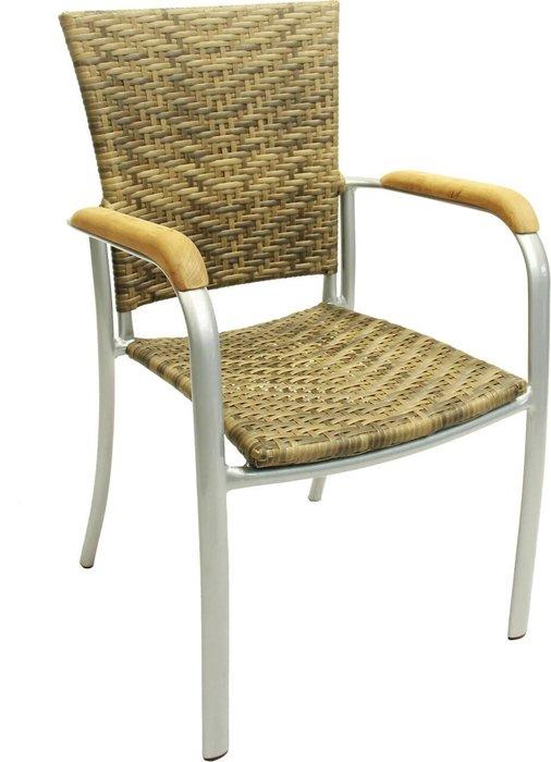 Кресло садовое Aruba цвета слоновой кости