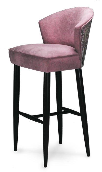 Стул барный мягкий Erica розового цвета