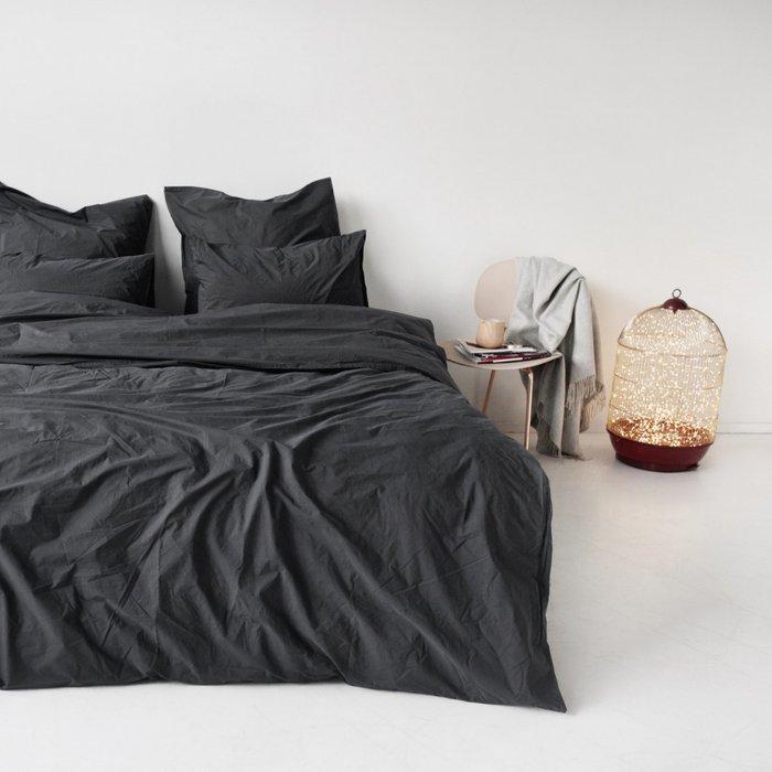 Комплект постельного белья серого цвета 150х215 (семейный)