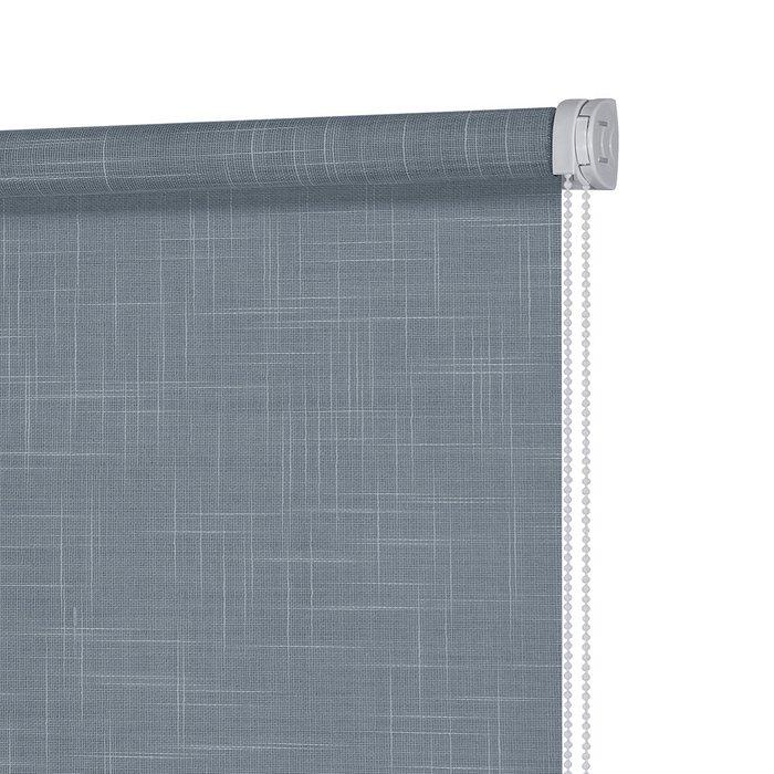 Рулонная штора Миниролл Шантунг темно-лазурного цвета 70x160
