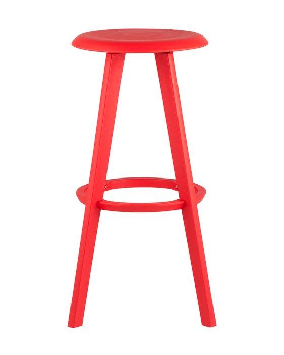 Барный стул Hoker красного цвета