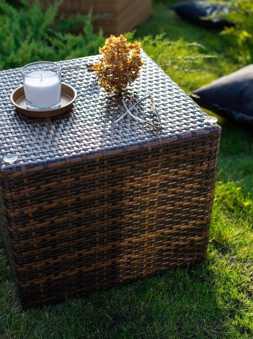 Стол садовый Wurfel черно-коричневого цвета