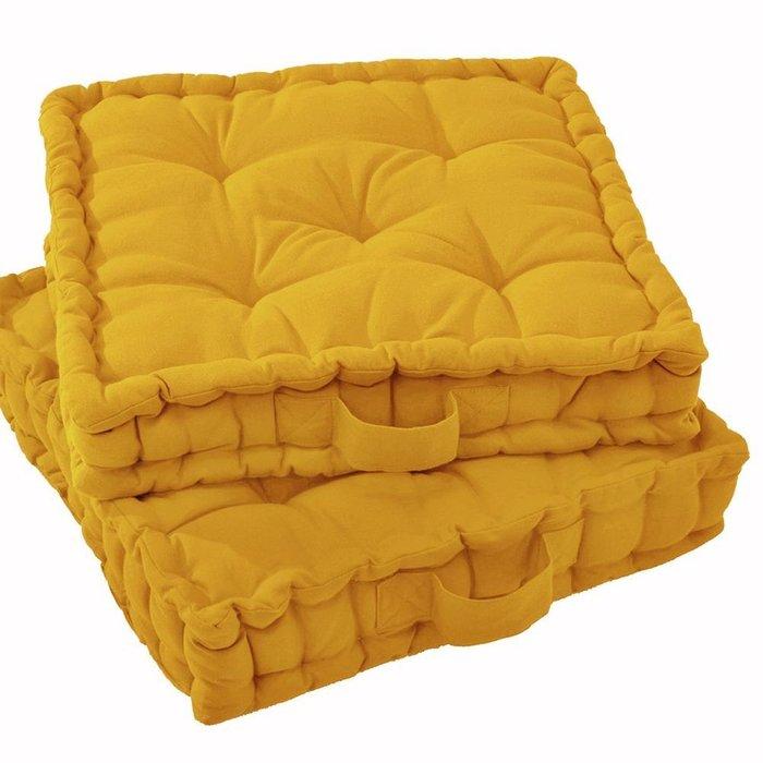 Напольная подушка Scenario желтого цвета 38x38x10