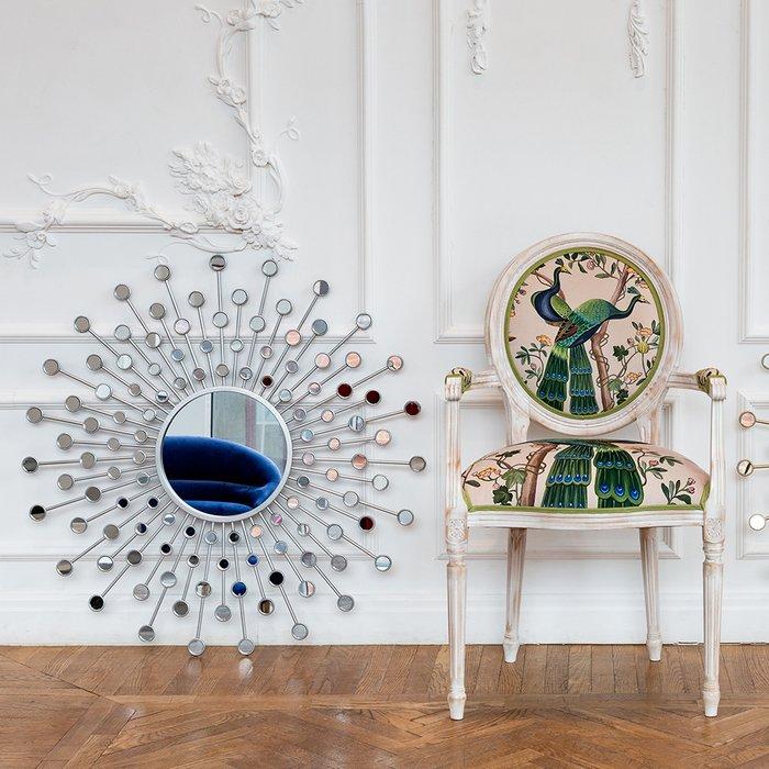Настенное зеркало Белладжио Сильвер серебрянного цвета