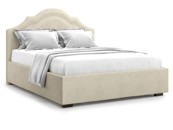 Кровать с подъемным механизмом Madzore 140х200 бежевого цвета