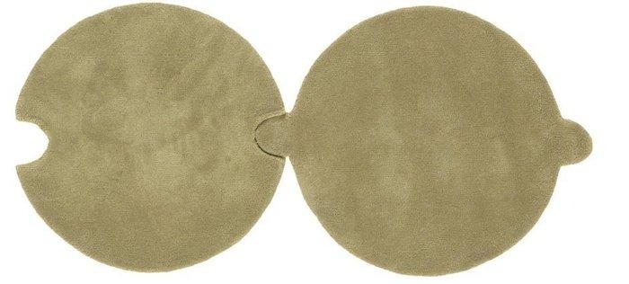 Круглый ковер Necklace бежевого цвета 100 см