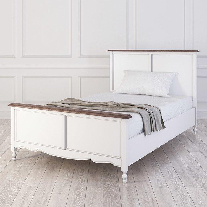 Кровать односпальная Leblanc белого цвета 120х200