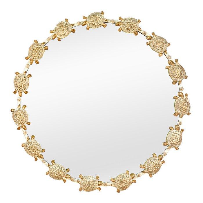 Зеркало настенное Черепахи золотого цвета