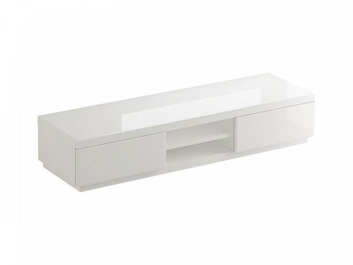 """Тумба для ТВ белого цвета с ящиками """"Kristal"""""""