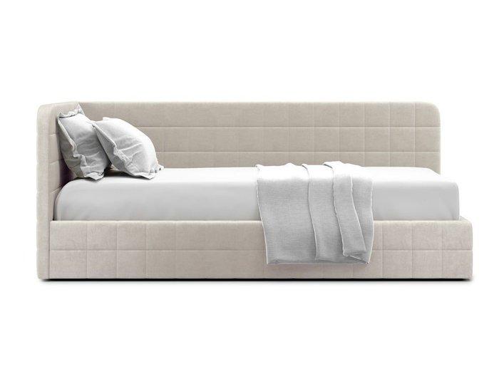 Кровать с подъемным механизмом Tichina left 120х200 бежевого цвета