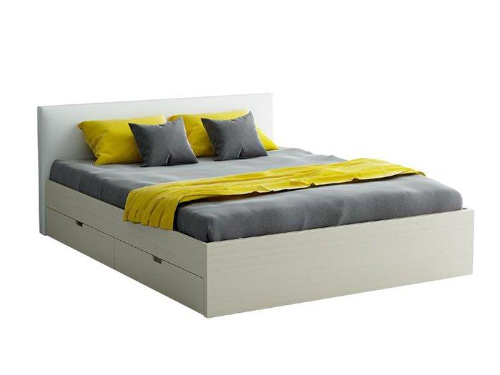 """Кровать """"City"""" с мягким изголовьем и двумя выдвижными ящиками 160х200"""