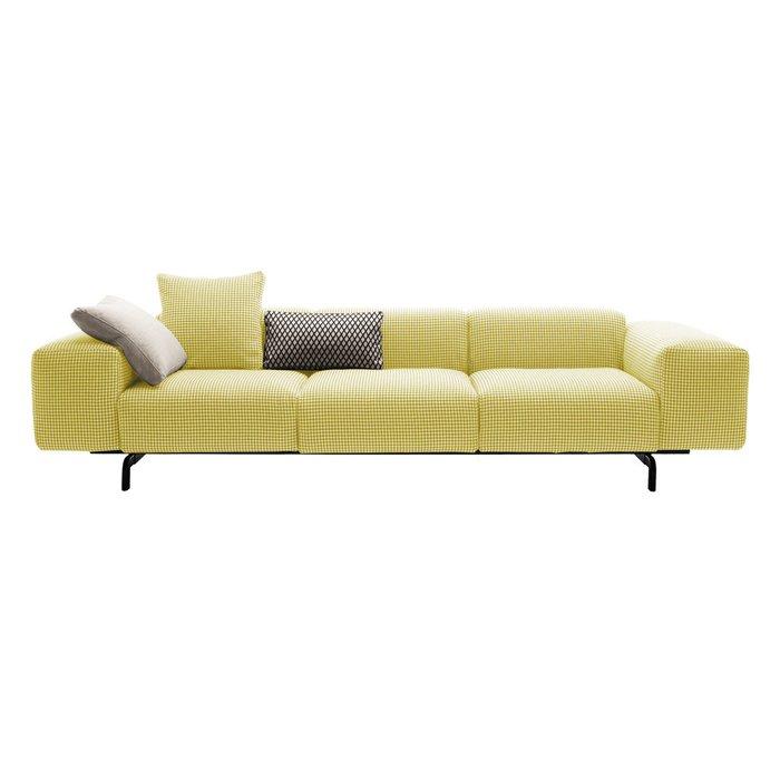 Диван трехместный Largo желтого цвета