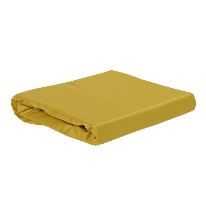 Простыня Essential из сатина горчичного цвета 240х270