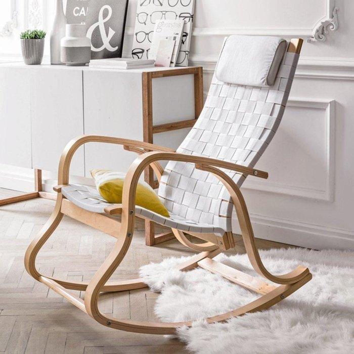 Кресло-качалка Jimi белого цвета