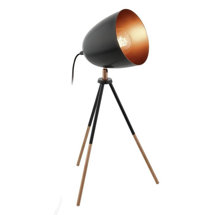 Настольная лампа Chester черного цвета