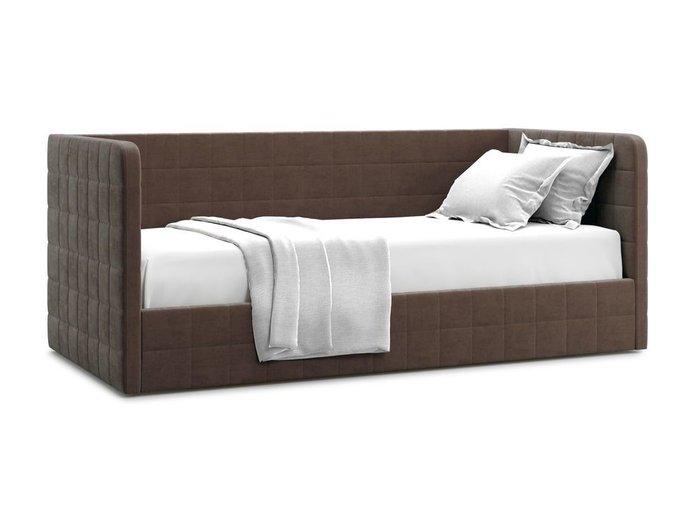 Кровать с подъемным механизмом Brenta 120х200 коричневого цвета