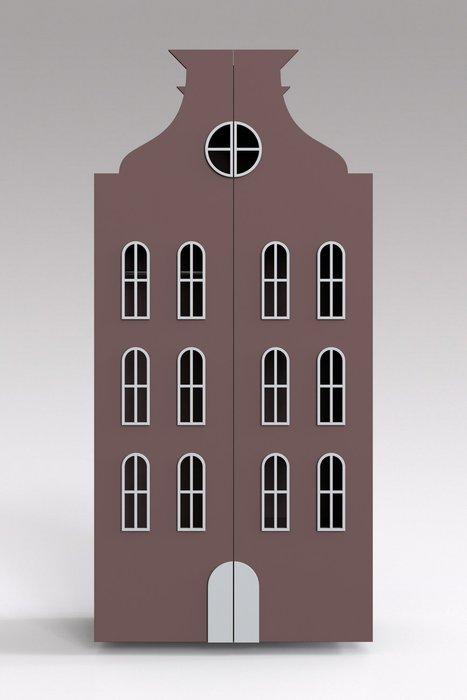 Двойной шкаф-домик Брюссель Maxi сливового цвета