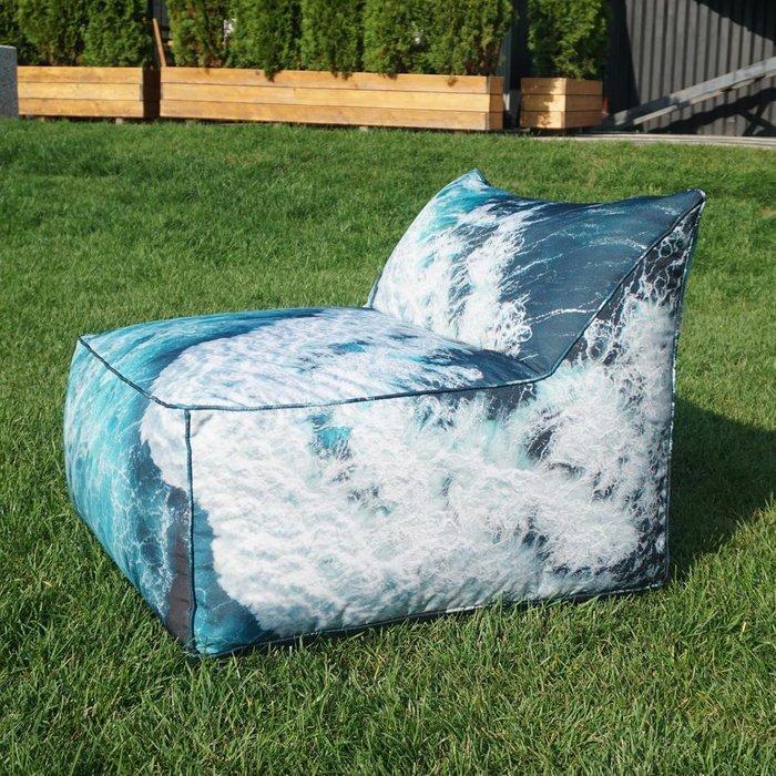 Кресло Angle Ocean Wave синего цвета