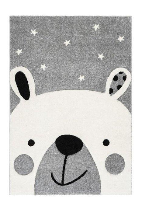 Детский ковер Amigo Teddy Grey серого цвета 160х230