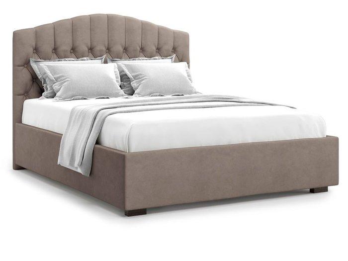 Кровать с подъемным механизмом Lugano 140х200 темно-бежевого цвета