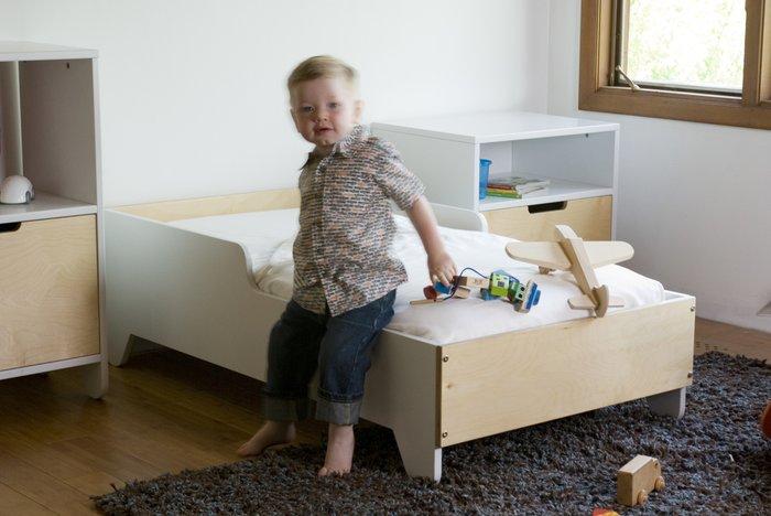 детская кровать Hiya береза Spot On Square 130х70