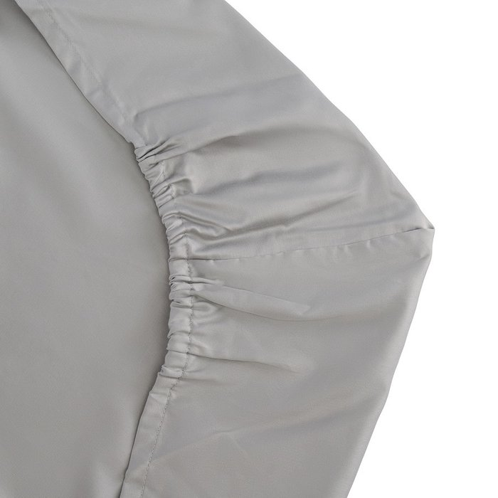 Простыня на резинке из сатина светло-серого цвета 90х200х28