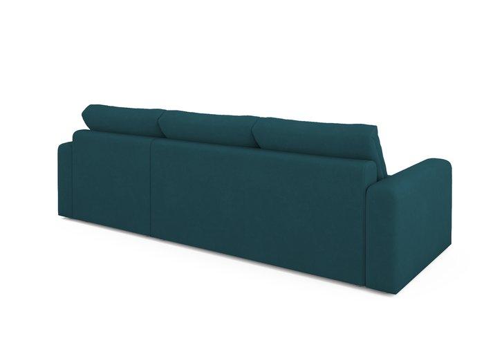 Угловой диван-кровать Ruiz сине-зеленого цвета
