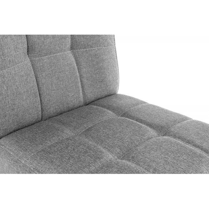 Стул Madina dark walnut fabric grey серого цвета