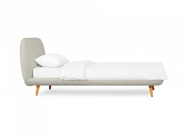 Кровать Loa 90х200 светло-серого цвета