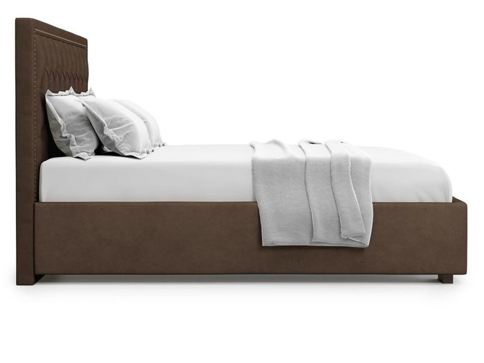 Кровать с подъемным механизмом Orto 140х200 коричевого цвета