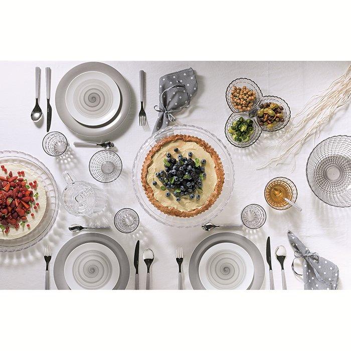 Блюдо сервировочное Guzzini tiffany s серое