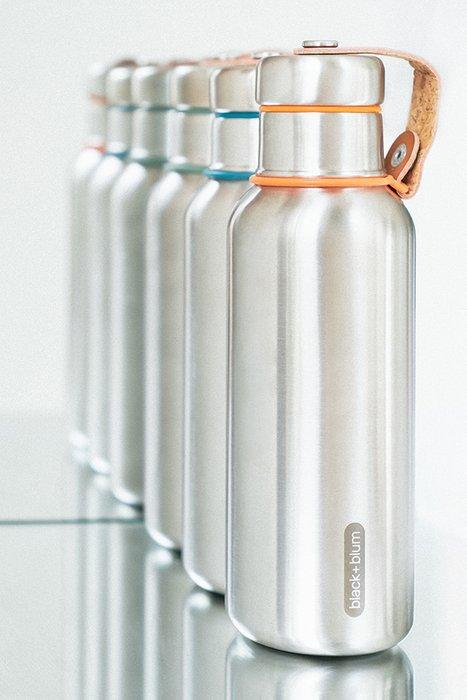 Фляга Water Bottle оранжевая из нержавеющей стали с пластиковой крышкой