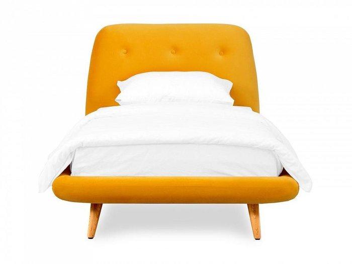 Кровать Loa 90х200 желтого цвета