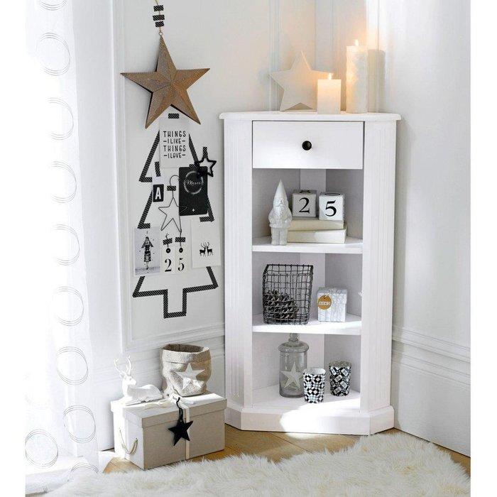 Угловой столик Authentic Style белого цвета