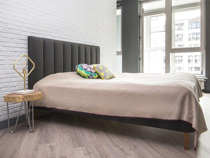 Кровать Клэр 160х200 темно-серого цвета