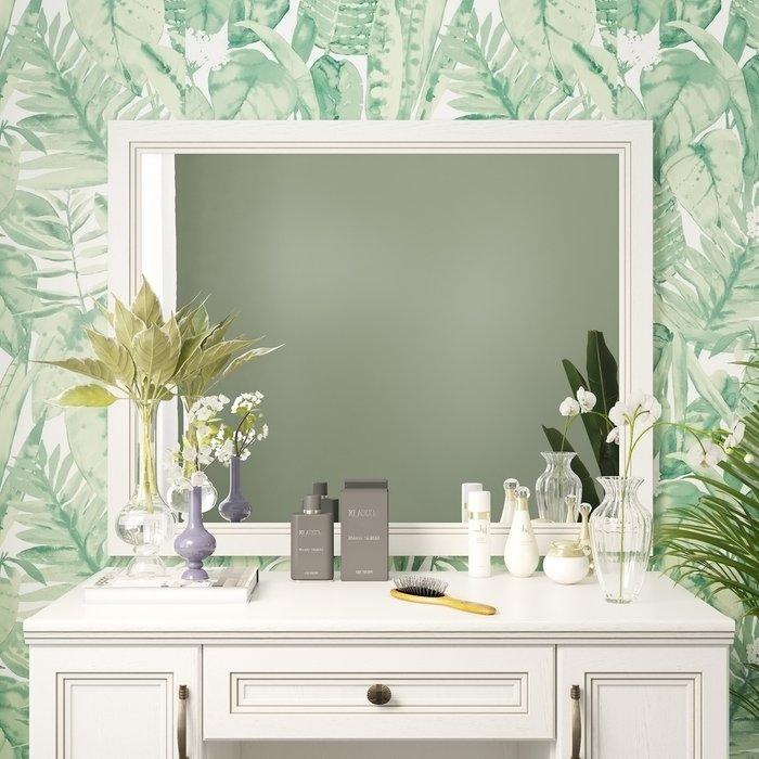 Настенное зеркало Белладжио в раме белого цвета