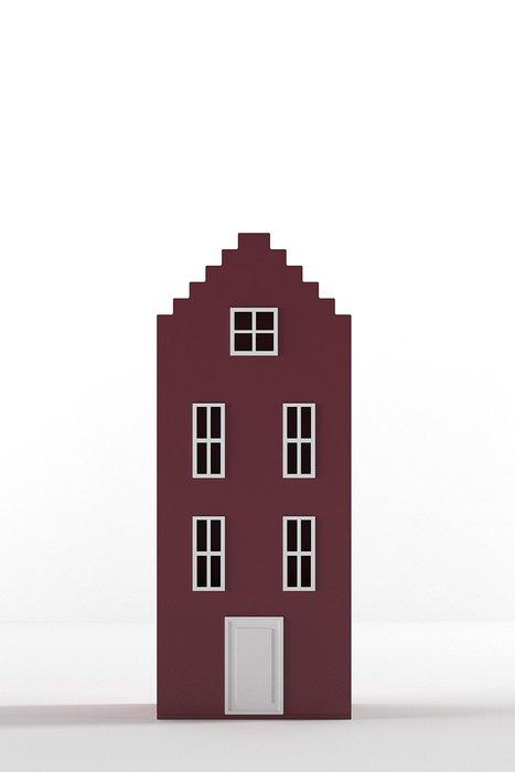 Шкаф-домик Брюгге Mini бордового цвета