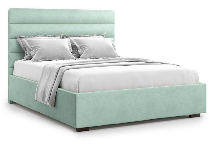 Кровать с подъемным механизмом Karezza 160х200 мятного цвета