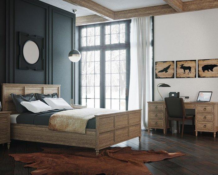 Кровать Vilton из дуба с изножьем 180х200