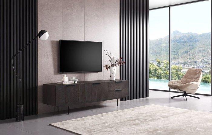 Тумба под TV Barbara темно-коричневого цвета