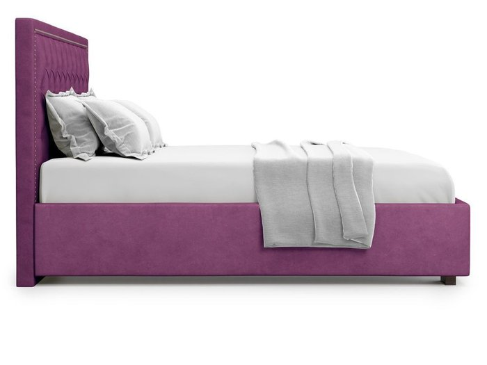 Кровать с подъемным механизмом Orto 140х200 фиолетового цвета