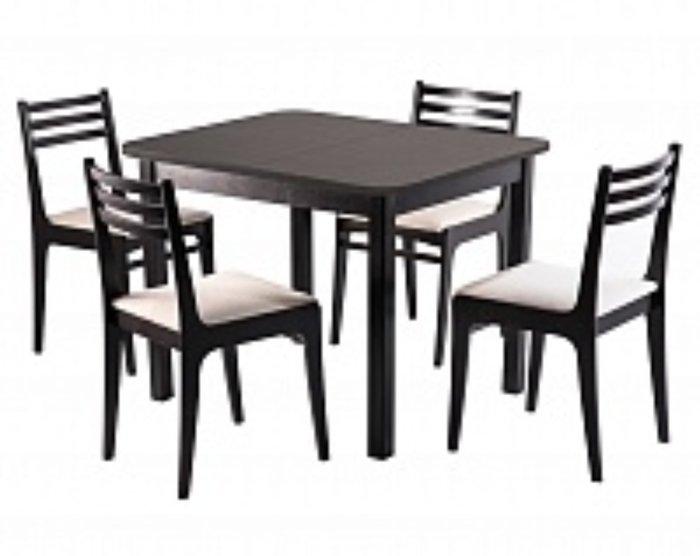 Раскладной обеденный стол Франц темно-коричневого цвета