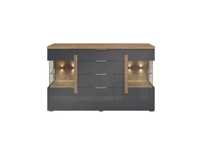 Комод с ящиками Дубай серого цвета