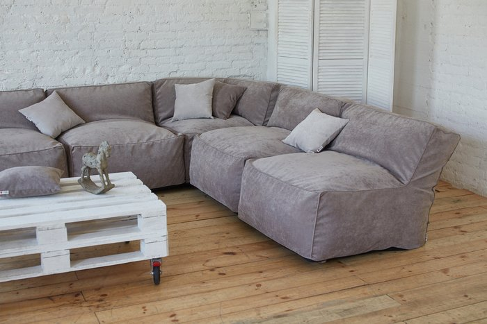 Модульный диван Xaviera GREY серого цвета